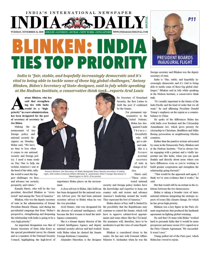 INDIA DD – Nov 24, 2020