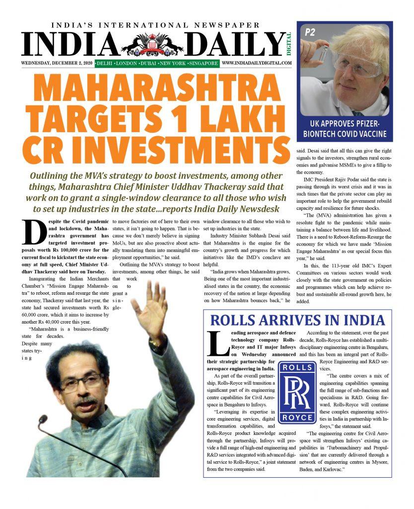 INDIA DD – Dec 2, 2020