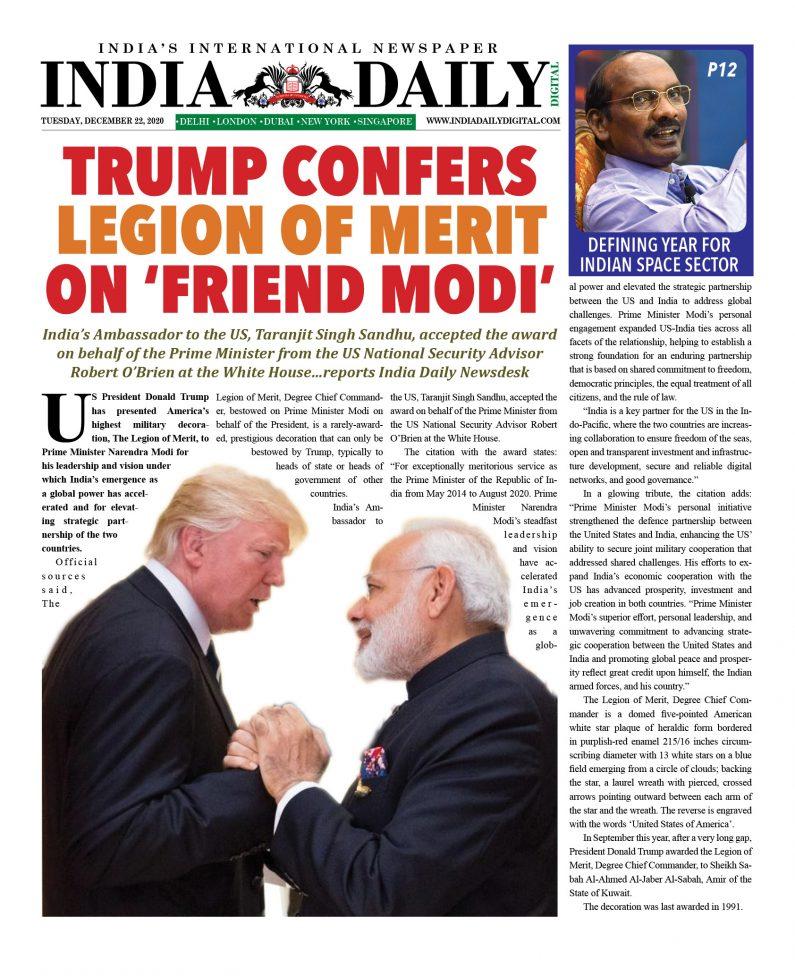 INDIA DD – Dec 22, 2020