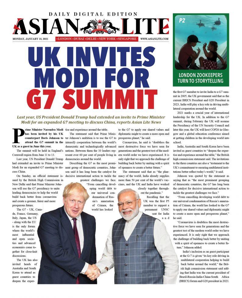 INDIA DD – Jan 18, 2021