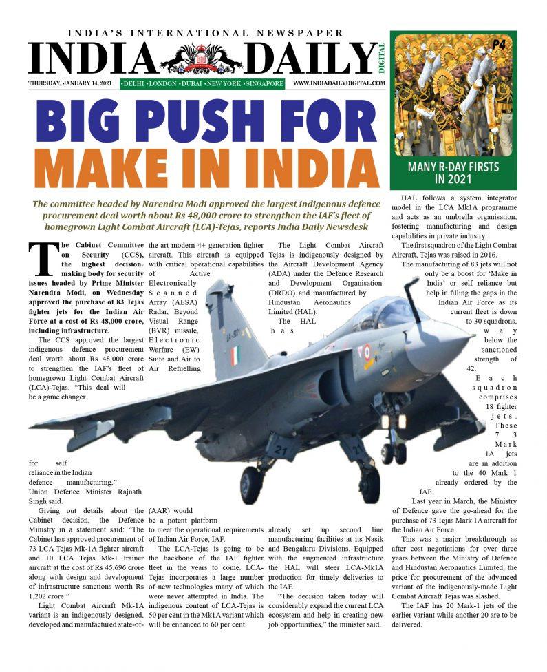 INDIA DD – Jan 14, 2021