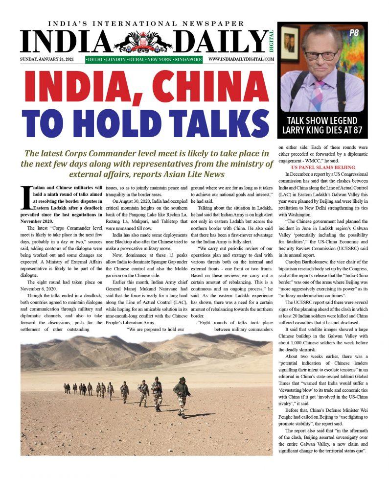 INDIA DD – Jan 24, 2021