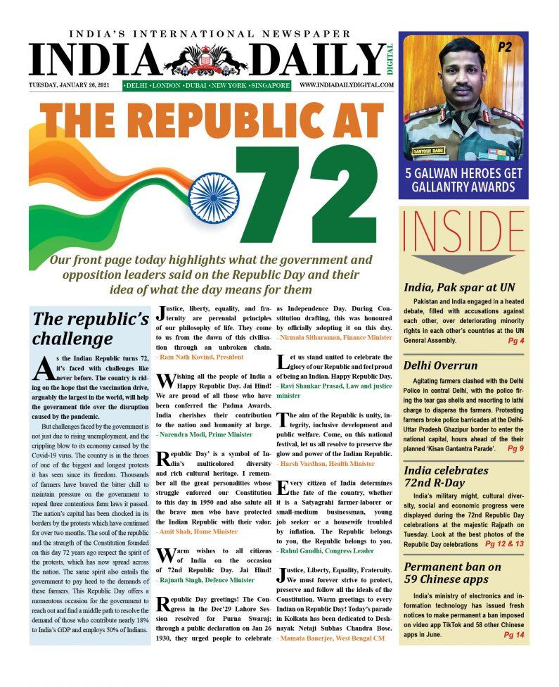 INDIA DD – Jan 26, 2021