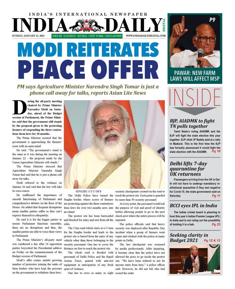 INDIA DD – Jan 31, 2021