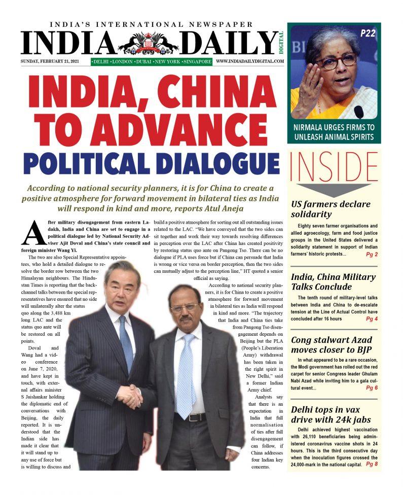 INDIA DD – Feb 21, 2021