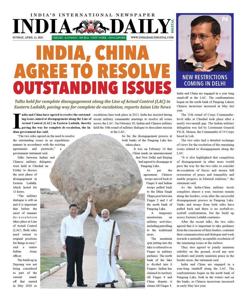 INDIA DD – Apr 11, 2021