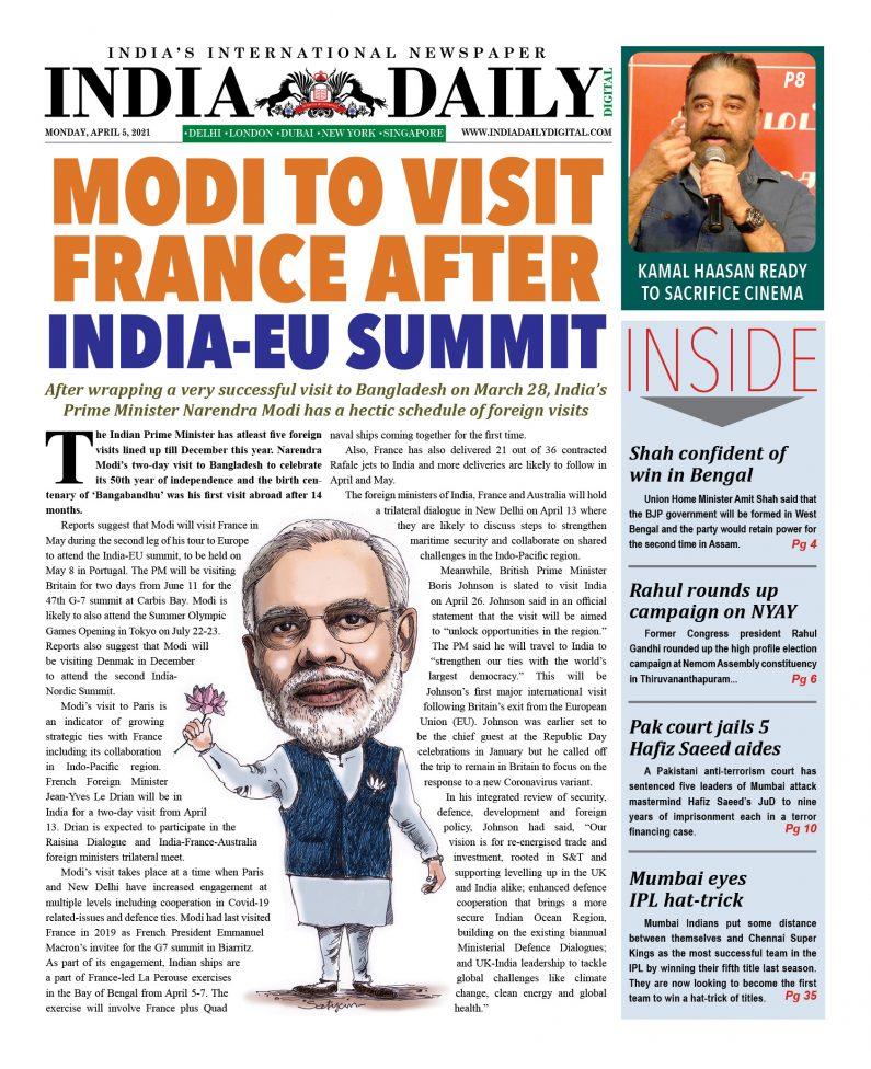 INDIA DD – Apr 5, 2021