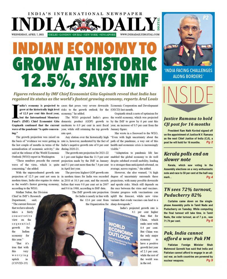 INDIA DD – Apr 7, 2021