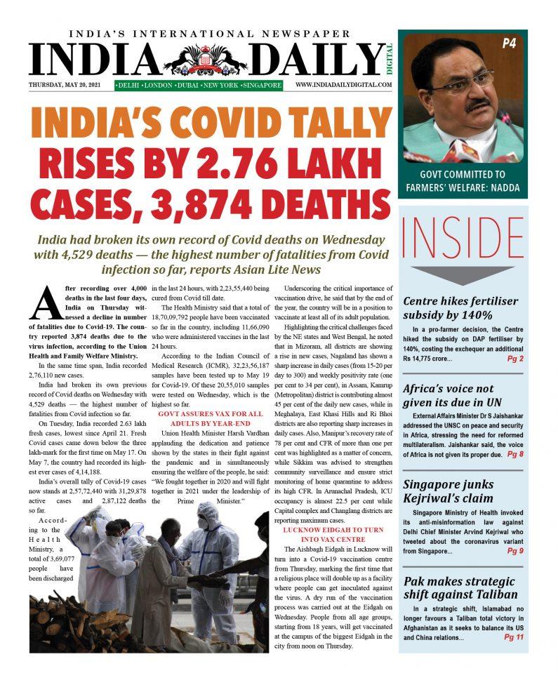 INDIA DD – May 20, 2021