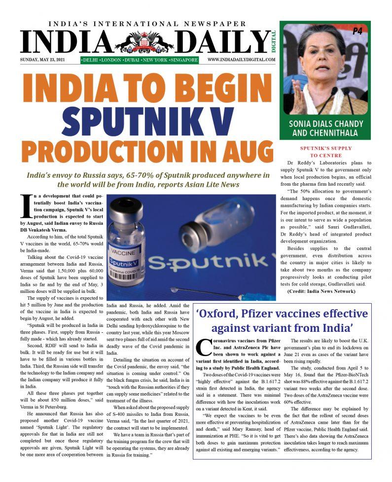 INDIA DD – May 23, 2021