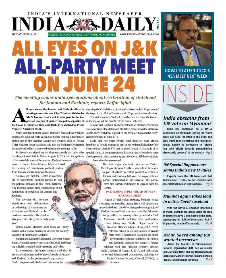 INDIA DD – June 20, 2021