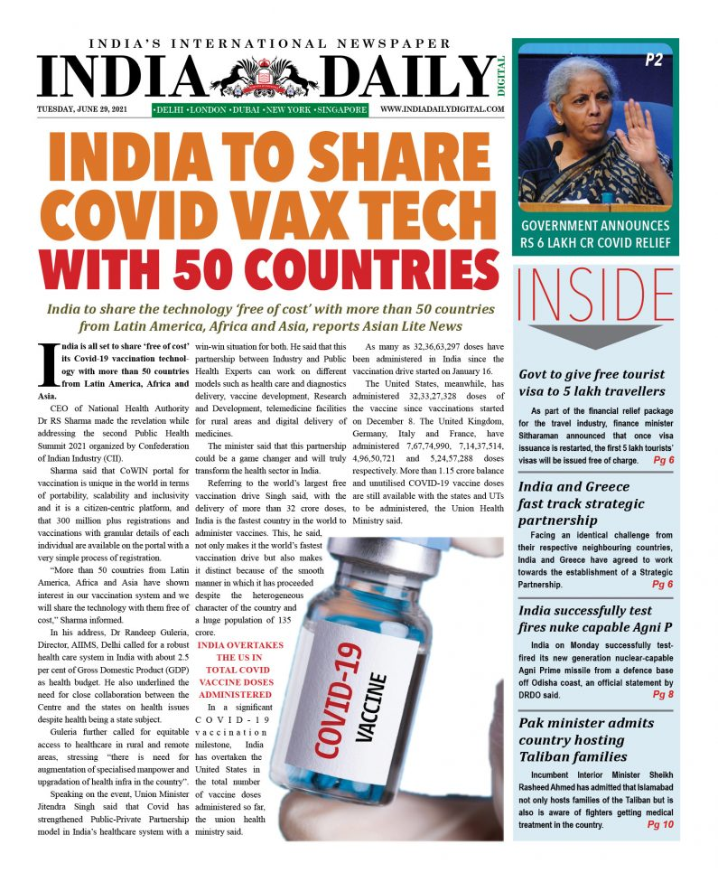 INDIA DD – June 29, 2021