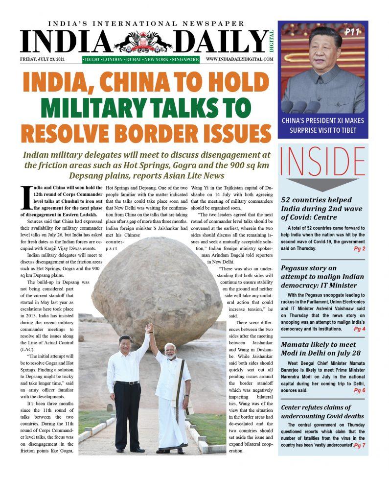 INDIA DD – July 23, 2021