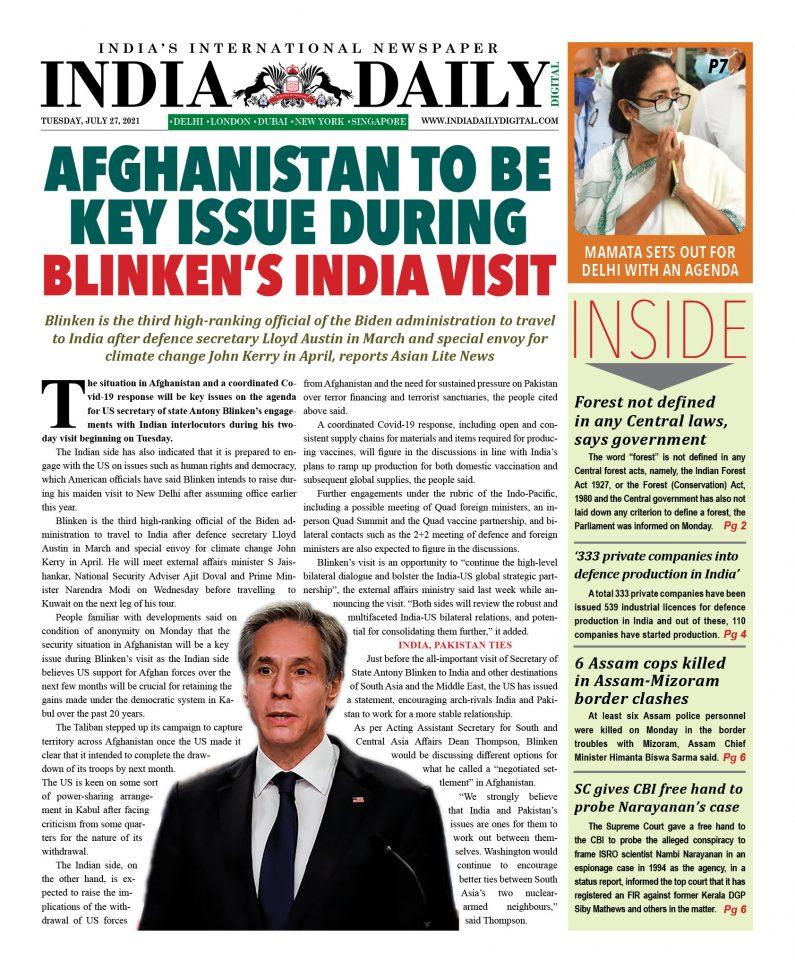 INDIA DD – July 27, 2021