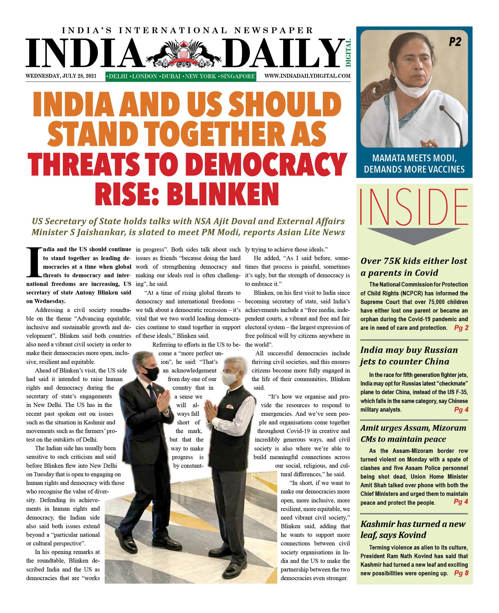 INDIA DD – July 28, 2021