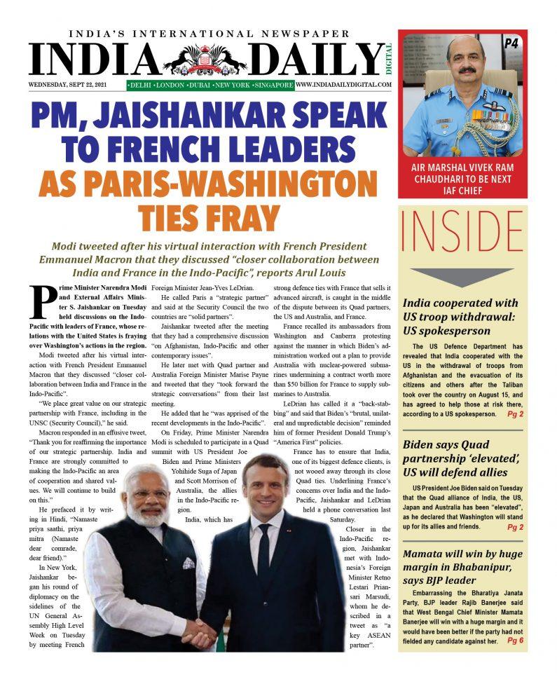 INDIA DD – September 22, 2021