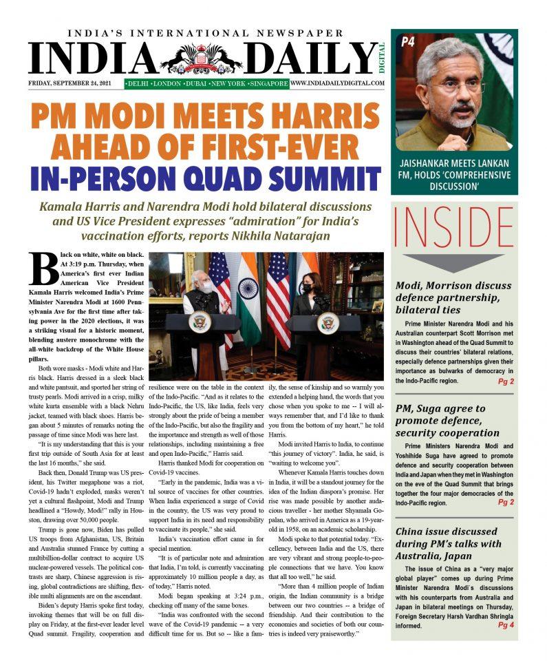 INDIA DD – September 24, 2021