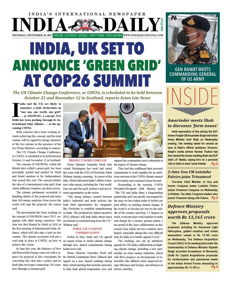 INDIA DD – September 30, 2021
