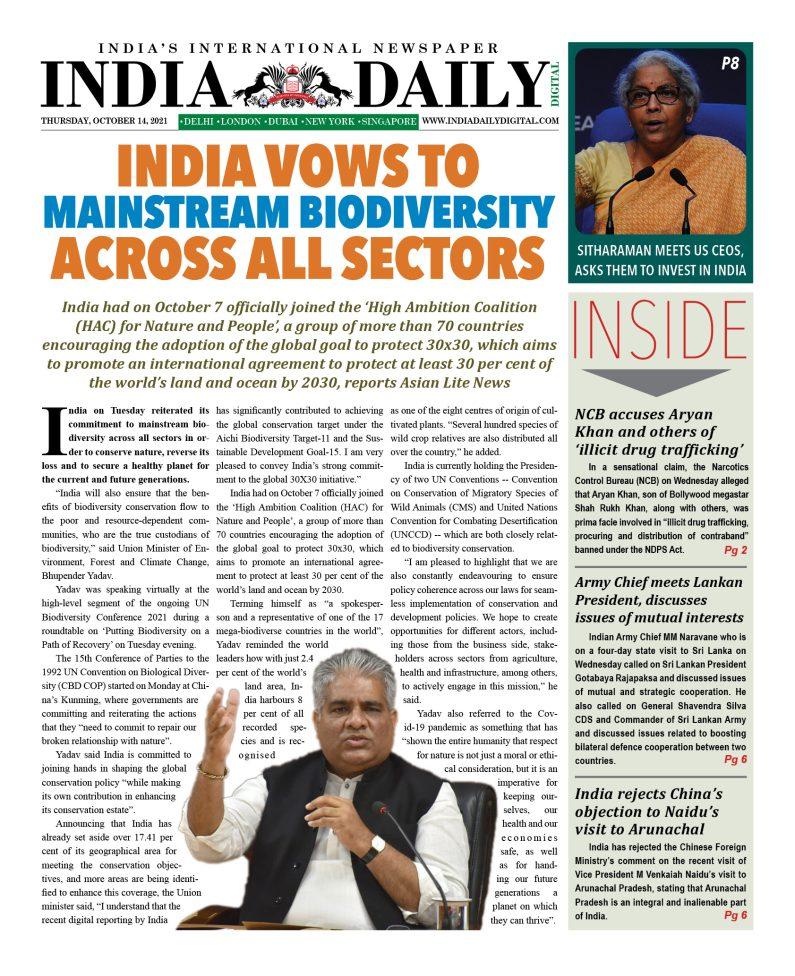 INDIA DD – October 14, 2021