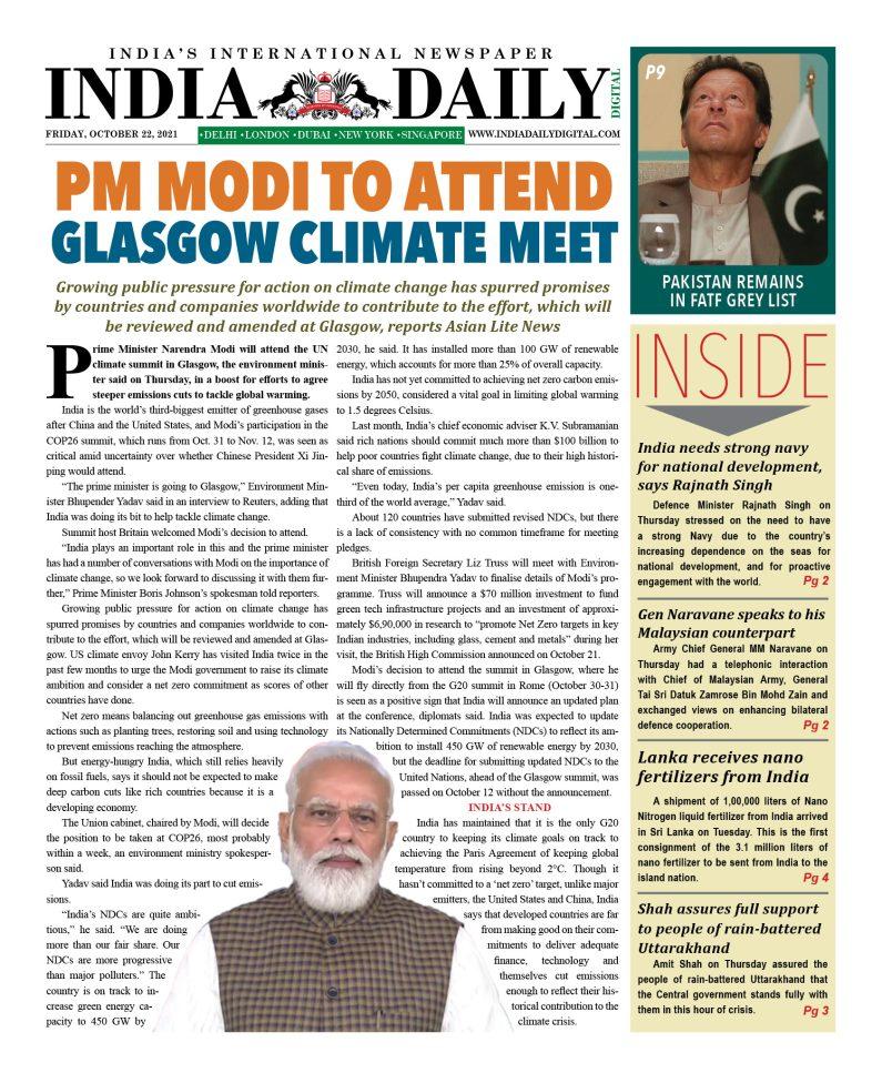 INDIA DD – October 22, 2021